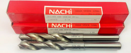 SET OF 2 NACHI 9/16 SILVER AND DEMING DRILL LIST 575 HIGH SPEED STEEL  J... - $14.84