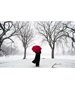Red Umbrella Home Decor Canvas Print. Framed or Unframed - $5.52+