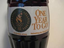 "Original 1995 COCA COLA Atlanta Olympics One Year To Go Bottle 7.5"" Georgia - $11.80"