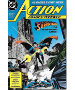Action Comics Comic Book #611 Superman DC Comics 1988 VFN/NEAR MINT NEW ... - $4.50