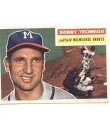 1956 Topps #257 Bobby Thomson Braves EX Excellent  - $15.00