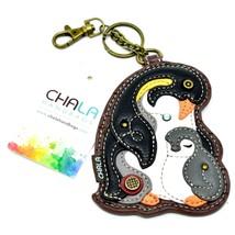 Chala Handbags Faux Leather Penguin Coin Purse Key Chain Fob Keychain image 1