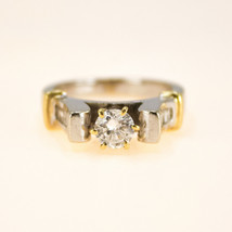18k Round and Baguette Diamond Ring Ring size J BHS - $1,398.42