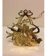 "1988 ""Doves of Peace"" Danbury Mint Gold Christmas Ornament  - $14.95"