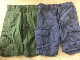 da42c7c6b EUC Gap Kids Boy's Navy Shorts Size 7 AND Lands End Army