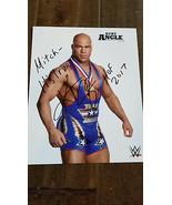 2017 WWE WWF ISSUE PROMO SIGNED AUTO PHOTO CARD KURT ANGLE 1996 OLYMPIC ... - $59.99