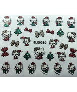 BANG STORE Nail Art 3D Glitter Decal Stickers Hello Kitty Christmas Tree... - $3.67