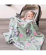 Blue Elephants Baby Nursery Light Blanket Stroller Size Soft and Warm Co... - $44.50