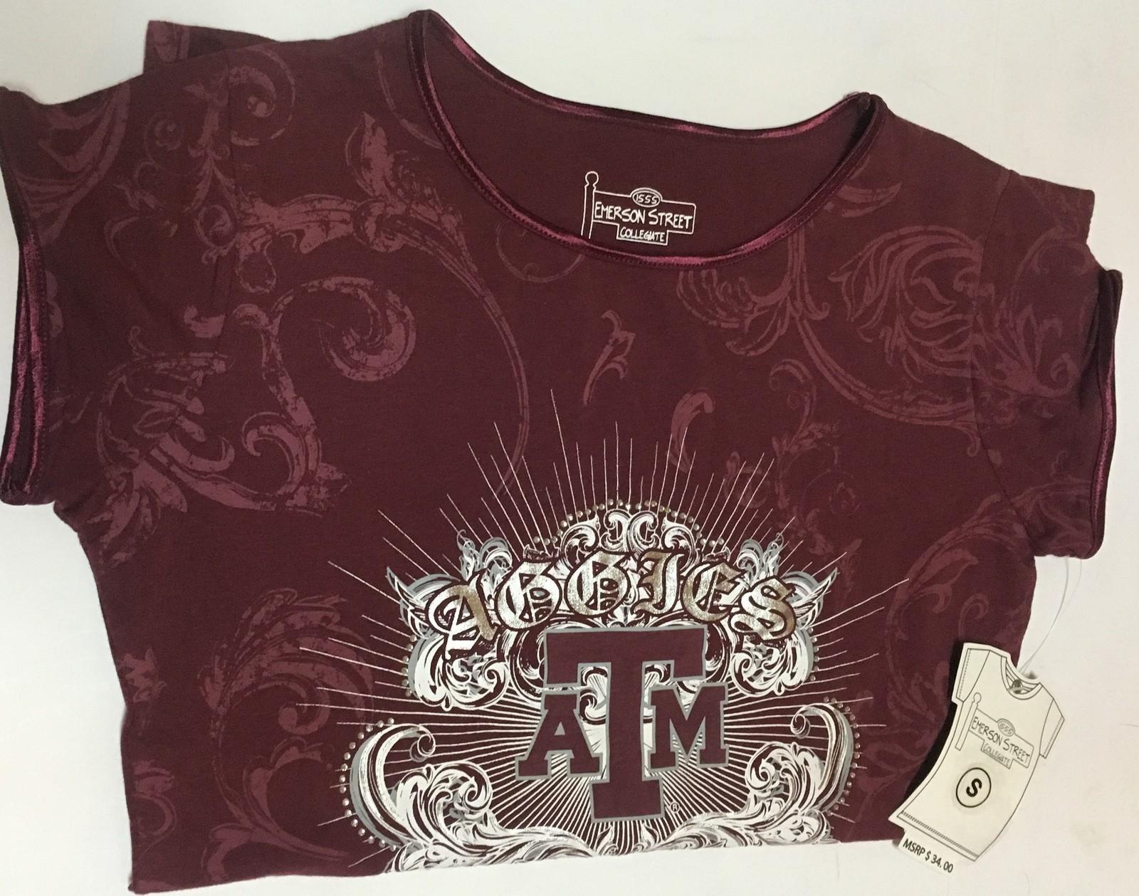 Texas A&M Collegiate Aggies Top Shirt Blouse Women's Sz S NWT