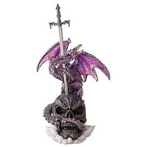 Dragon Wing Skull Sword Statue Mythical Creature Medieval Gothic Decor T... - €38,36 EUR