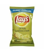 6 Bags Lays DILL PICKLE Chips LARGE Family Size 255g Canada FRESH & DELI... - $40.94