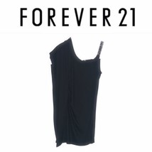Forever 21 One Shoulder Asymmetric Banded Bandage Bodycon Dress M - $14.24