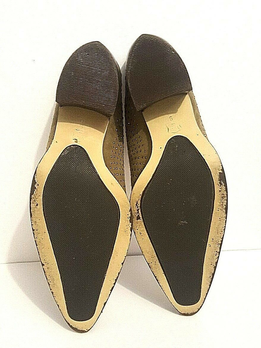 Western Style Pointy Toe Van Eli Brown Studded Mules Shoe Size 9M