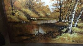 "Large 61""x 49"" Original Walter Sherwood Landscape Oil Painting Signed Artist Art image 6"
