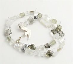 VINTAGE Jewelry CECILE JEANNE PARIS ART GLASS BEAD NECKLACE  - $125.00