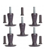 SET OF 5, PREMIUM Steel Core Two-Part Stem Glides Bed Frame Feet Legs & ... - $17.77