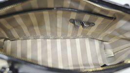 NWT Brahmin Mini Asher Satchel/Shoulder Bag in Black Miramonte-Cream with Black image 3