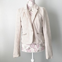 Charlotte Russe Cream and Black Polka Dot Blazer Women's Size large - $13.10