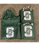 Vintage Michigan State University Spartans Stadium Seat Cushions & Rain ... - $24.18