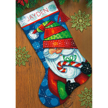 "Dimensions Stocking Needlepoint Kit 16"" Long-Sweet Santa Stitched In Floss - $36.89"