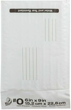 Duck #0 Poly Bubble Mailer 6in x 9in White Self-sealing 25 Pack (#0) image 2
