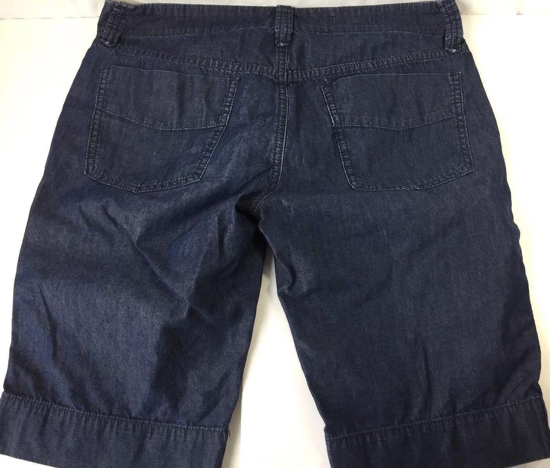 GAP 1969 Bermuda Denim Jean Shorts Dark Wash Low Rise Cotton Chino Womens 27 / 4