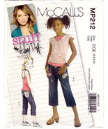 McCall's MP212 M5422 Girls Sewing Pattern Pant Top Hilary Duff Sizes 3-6... - $8.75