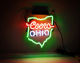 "New OHIO OHIO Handcraft Home Wall Man Cave Lamp Art Sign Neon Sign 11"" by 7"" - $59.00"