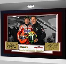 VALENTINO ROSSI & MICHAEL SCHUMACHER signed autograph Framed pre-print p... - $22.00