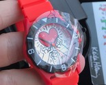 NWT KEITH HARING Holding Red Heart WATCH with case - very collectible