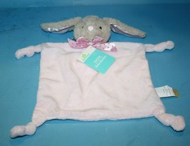 Dan Dee PINK Plush Bunny Rabbit Security Baby Blanket Knotted Corners Soft Toy - $29.00