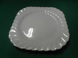 JOHNSON BROS.England Ironstone SNOW WHITE Regency Swirl ..LUNCHEON Plate... - $7.51
