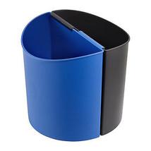 Desk Side Recycling Trash Can Small 3 Gallon Each Black & Blue - $20.99