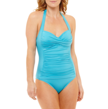 Liz Claiborne Solid One Piece Swimsuit Size 12 Msrp $89.00 Turquoise New - $39.99