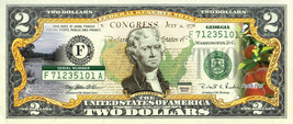 GEORGIA State/Park COLORIZED Legal Tender U.S. $2 Bill w/Security Features - $14.80