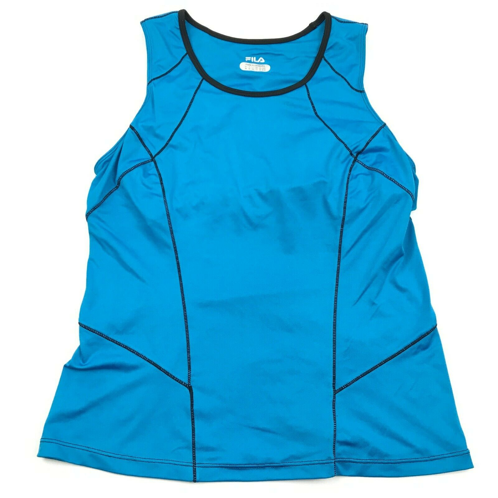 Primary image for FILA Tank Top Womens Size Medium Turquoise Blue Gym Top Sports Bar Sleeveless