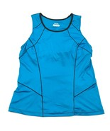 FILA Tank Top Womens Size Medium Turquoise Blue Gym Top Sports Bar Sleev... - $14.27