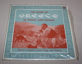Heart of Greece in 16 Songs and Dances 33 1/3 Record Album Thomakos Colo... - $12.82