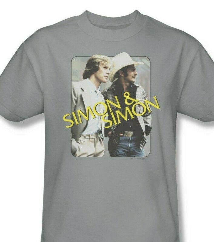 Simon and Simon T-shirt retro 70s 80s classic TV graphic printed NBC308 Gray