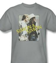 Simon and Simon T-shirt retro 70s 80s classic TV graphic printed NBC308 Gray image 1