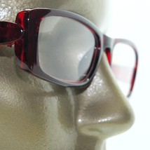 Reading Glasses Chunky Bold Full Burgundy Wine Glossy Square Frame +1.50 Lens - $22.00
