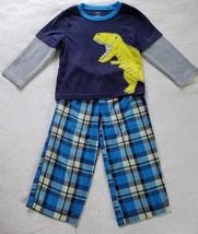 Boy's 2 Piece Fleece Pajama Set ~ Size 3T~ Blue and Grey Colors~ Carters - $9.99