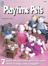 Playtime Pets Crochet OOP Cow Bunny Elephant Pig Duck Mouse Bear Pairs P... - $6.92