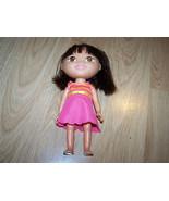 "8"" 2009 Dora the Explorer Vinyl Doll Synthetic Hair Pink Dress Mattel Vi... - $15.00"
