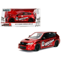 2012 Subaru Impreza WRX STI Red JDM Tuners 1/24 Diecast Model Car by Jada 30389 - $30.60