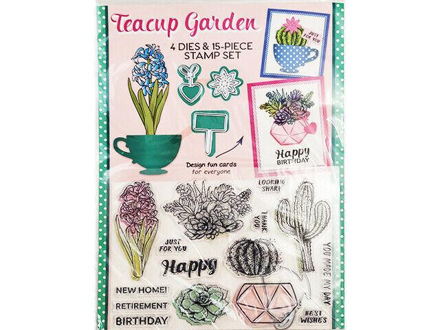 Practical Publishing International Teacup Garden Dies & Stamp Set