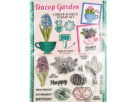 Practical Publishing International Teacup Garden Dies & Stamp Set image 1