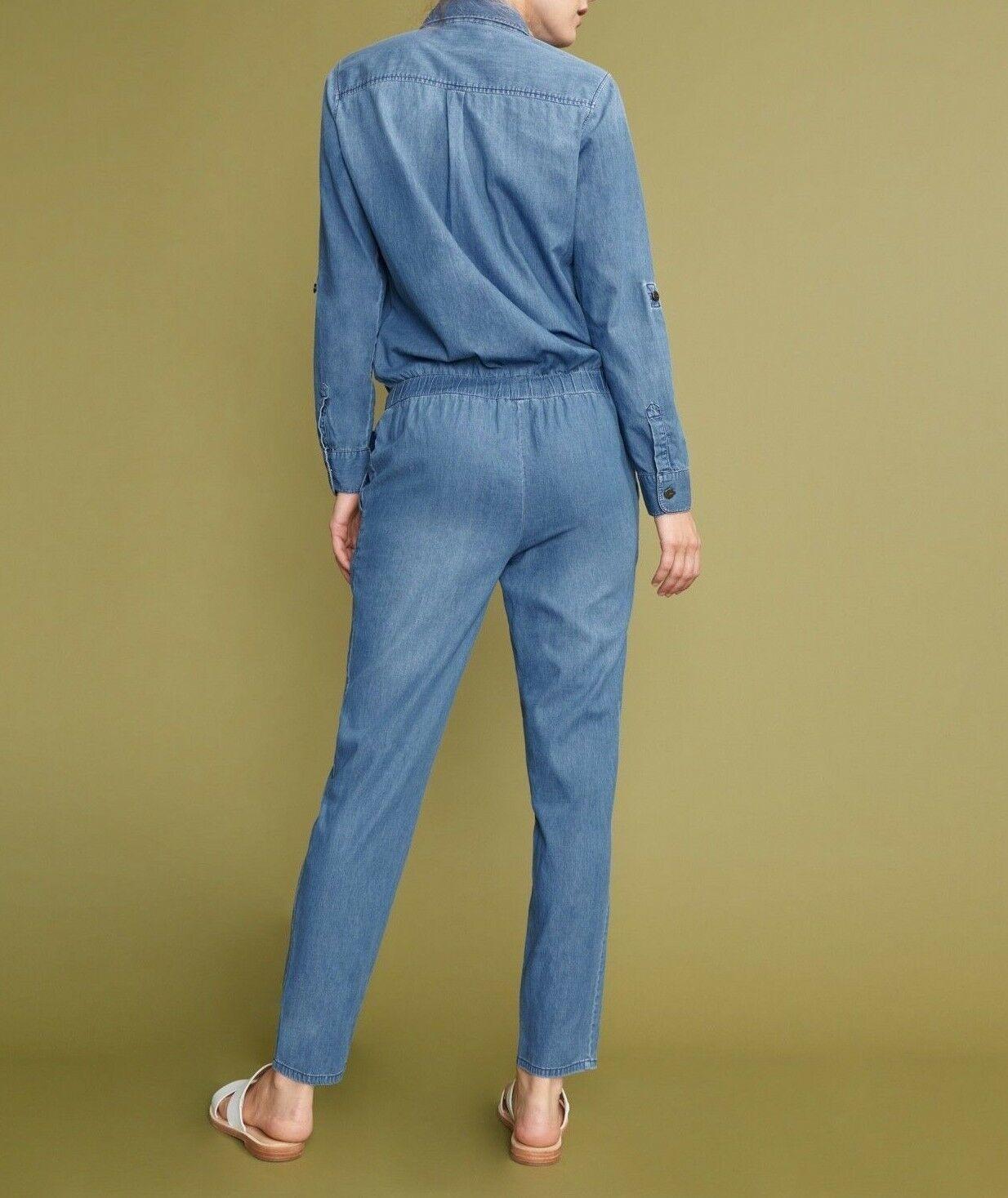 Anthropologie Laureen Denim Jumpsuit by Reiko $230 Sx XS - NWT