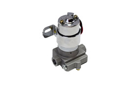 A-Team Performance 30-155 Electric Inline Fuel Pump 12V 155 GPH at 14PSI Chrome image 1