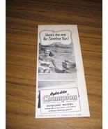 1951 Print Ad Champion Outboard Motors Pretty Bikini Lady Minneapolis,MN - $8.35